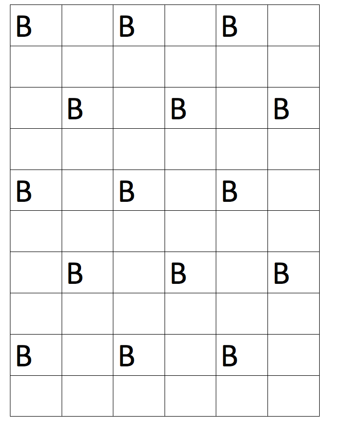 Grid with Bs