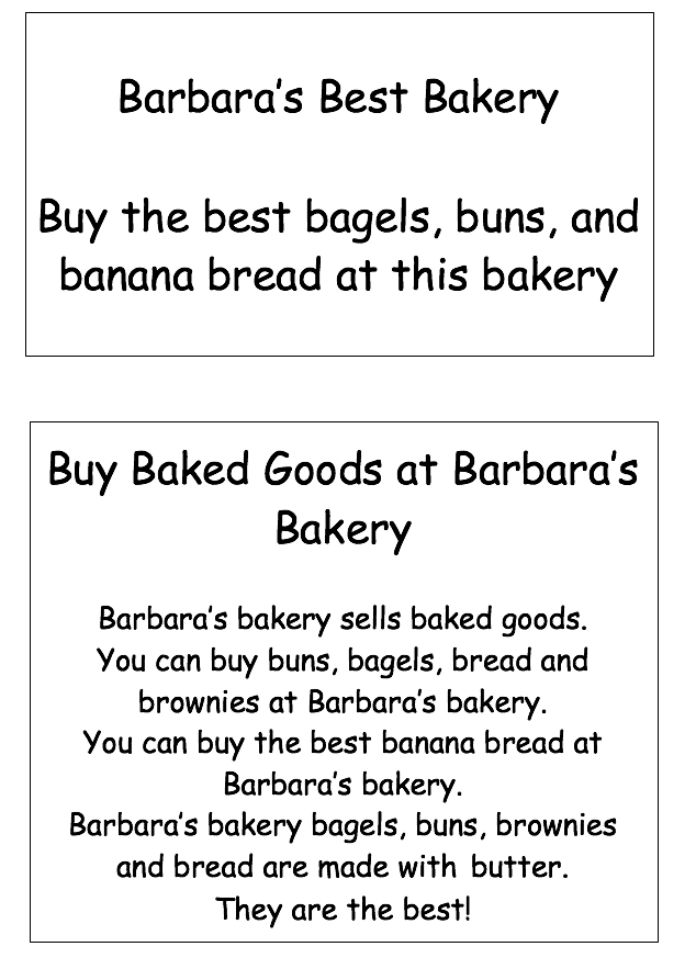 Signs for Bakery