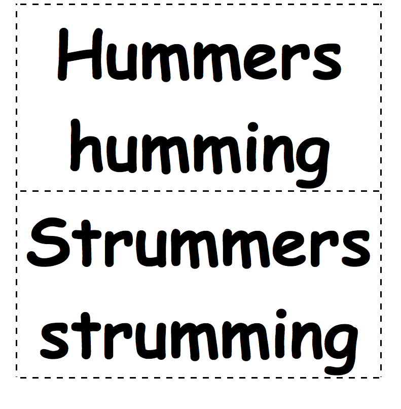 Hummers Strummers Signs