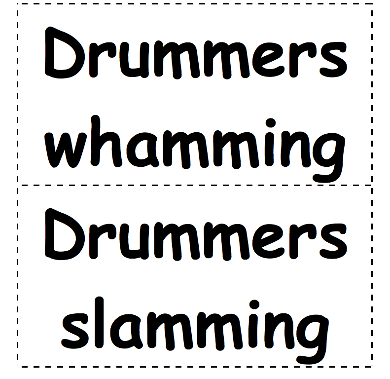 Drummers Sign