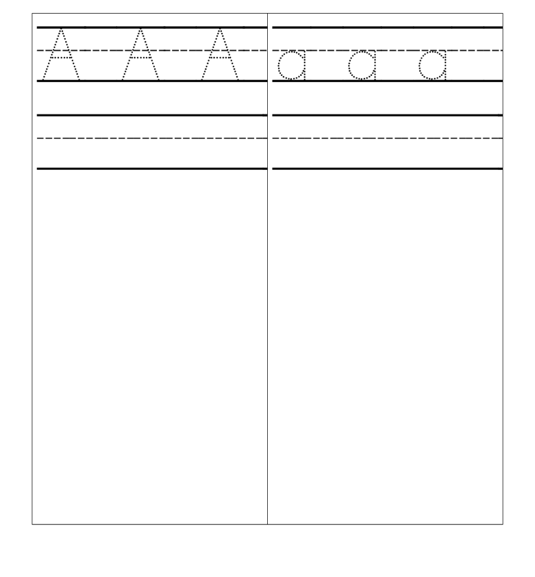 Letter Writing Practice A