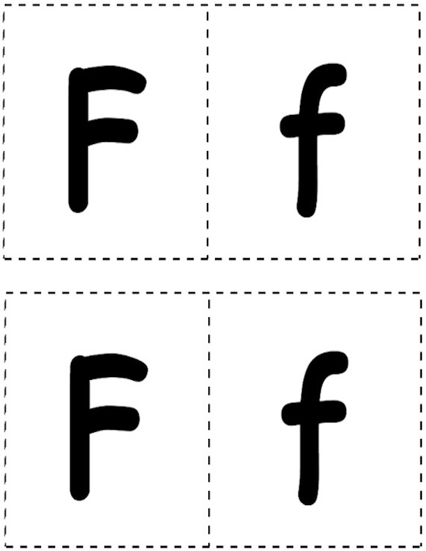 F and f Letter Cards