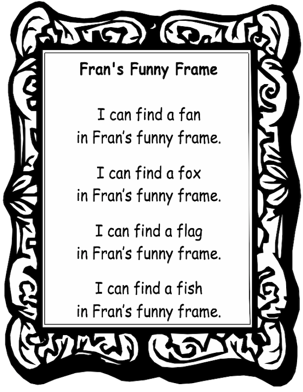 Fran Funny Frame with Text in a Frame