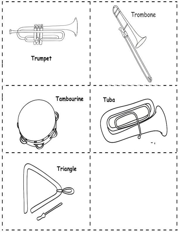 T Instrument Picture Cards