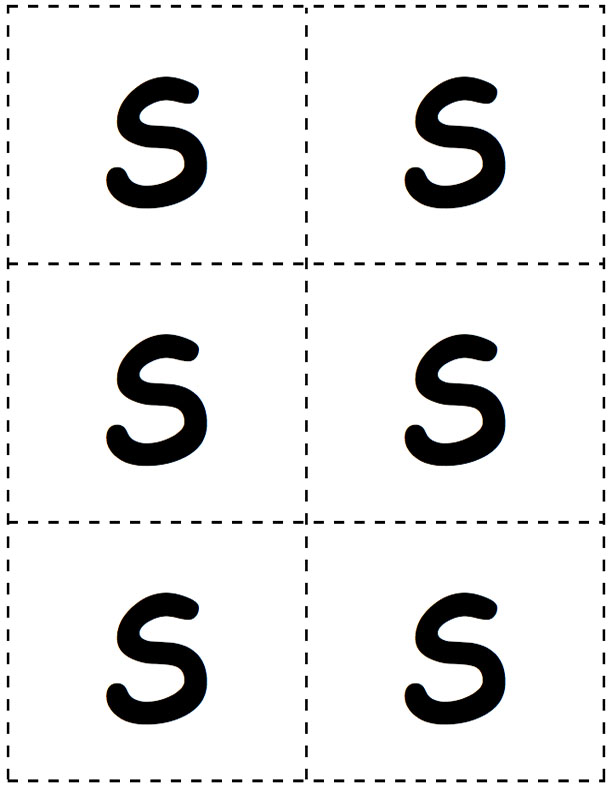 Large S Letter Cards