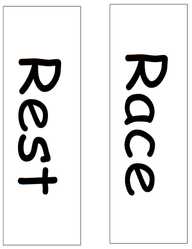 Race and Rest Signs