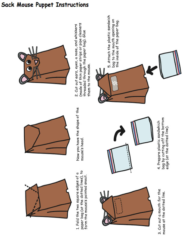Mouse Puppet Instructions