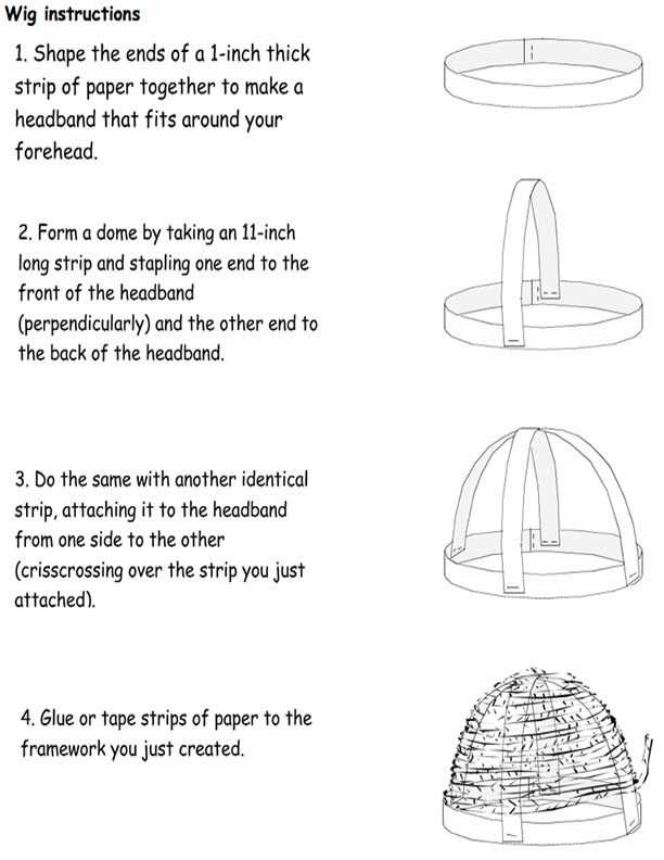 Paper Wig Instructions