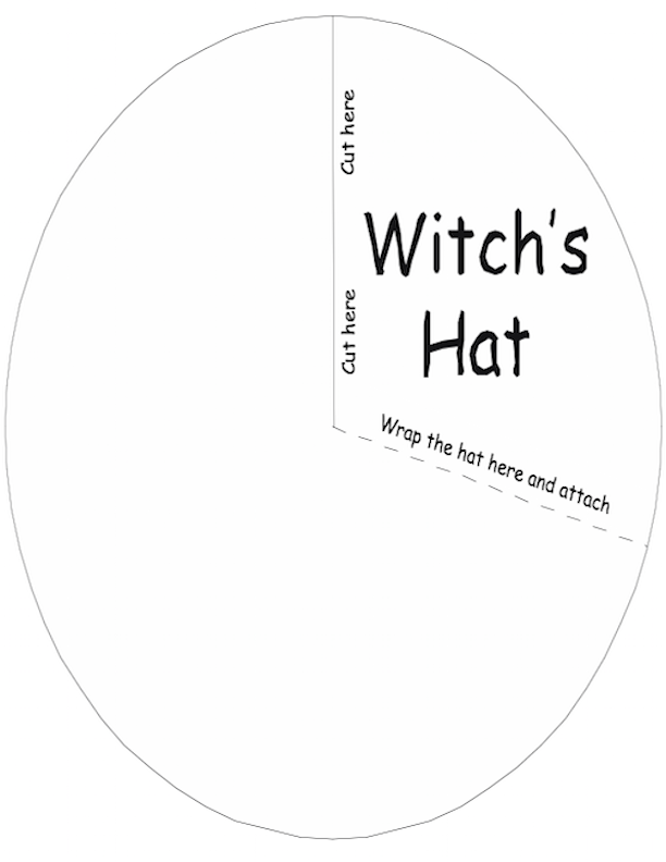 Witch's hat template