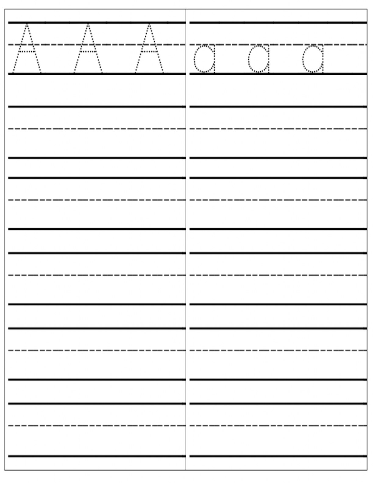 Writing Practice Page