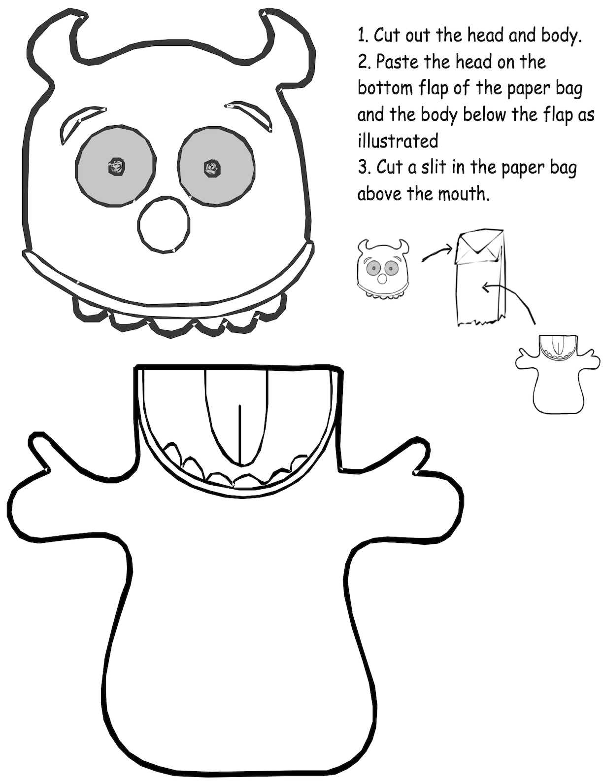 Paper Sack Puppet