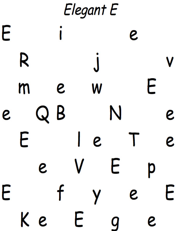 E Letter Finding Page
