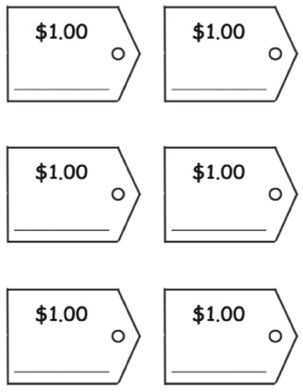 Dollar Price Tags