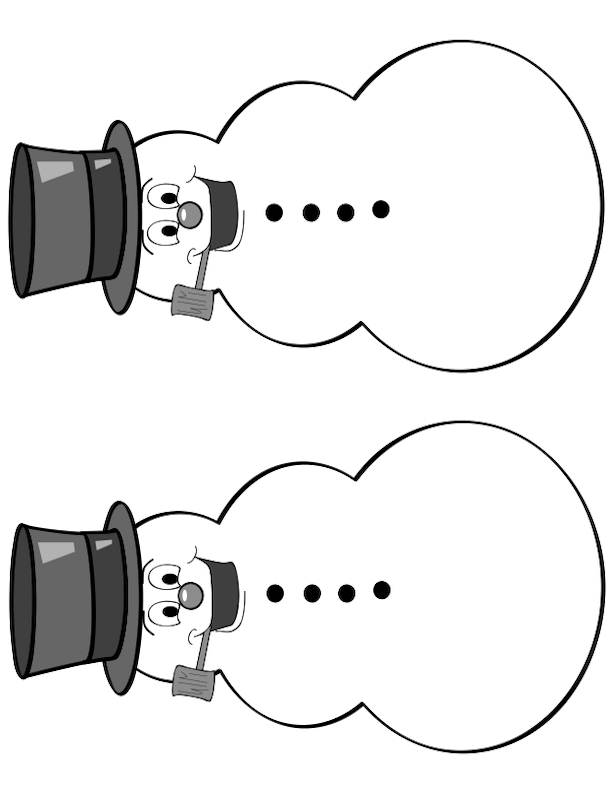 Silly Snowman Graphic