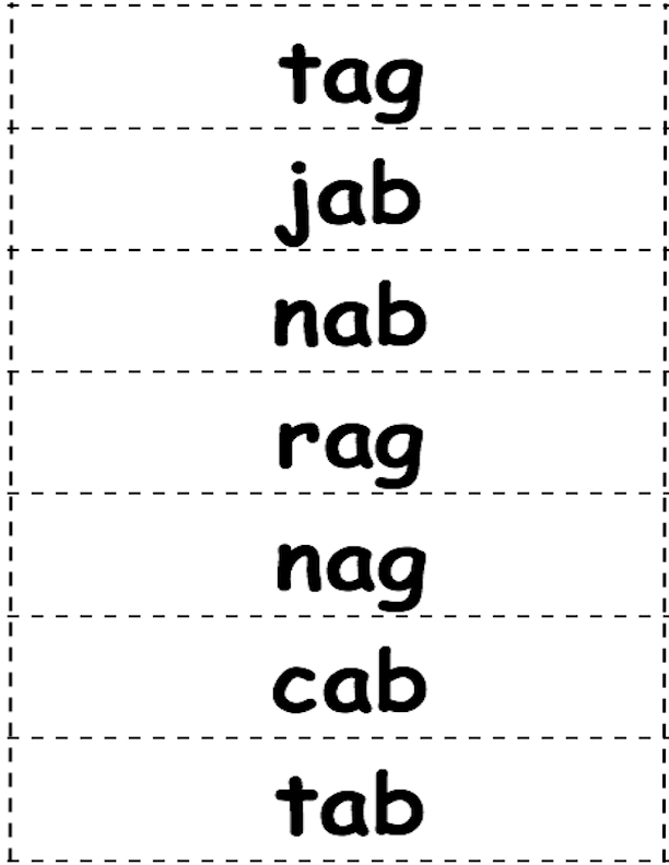 Word cards for bags