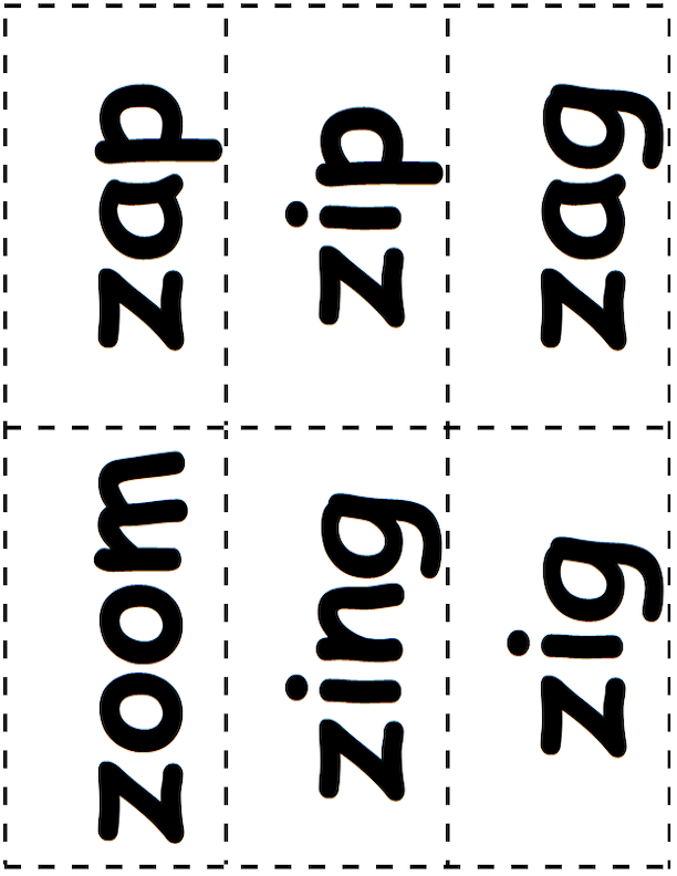 Z Word Cards