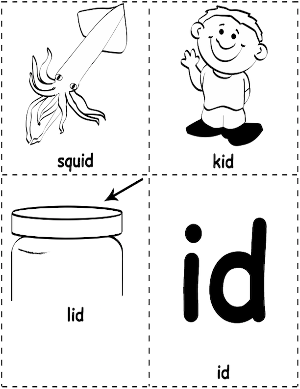 -id Picture Word Cards