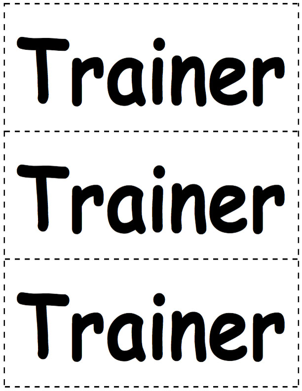 Dog Trainer Name Tags