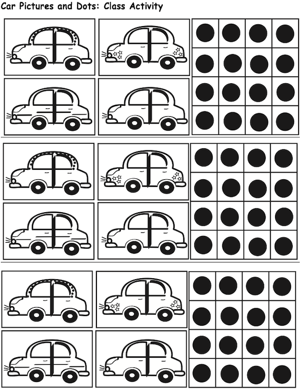 Car and Dot Game Pieces