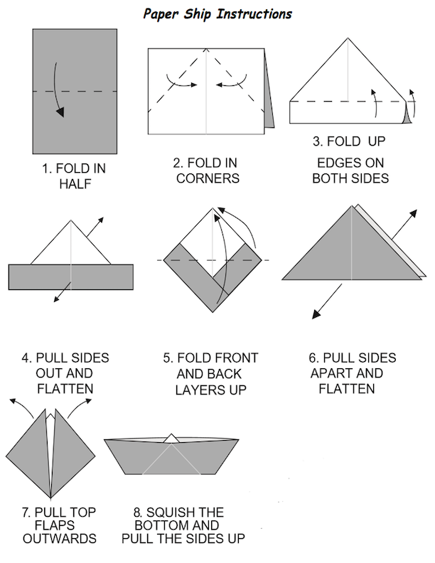 Paper Ship Instructions