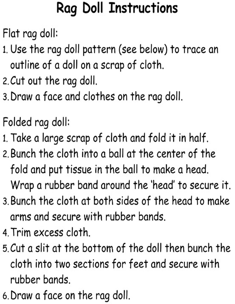 Rag Doll Instructions