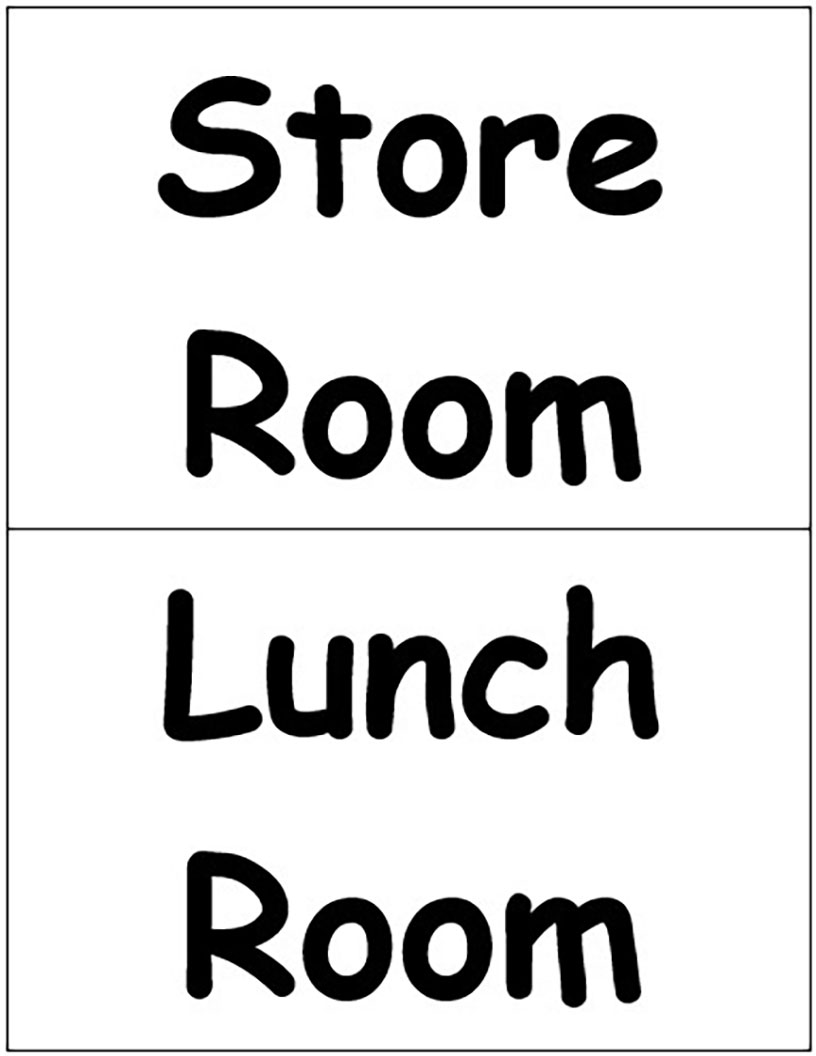 Store and Lunch Room Signs