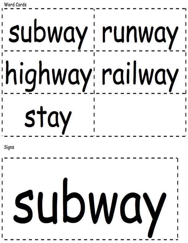 Word Cards and Signs