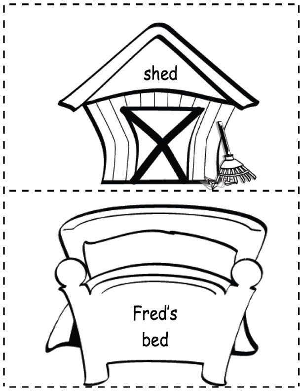 Shed and Fred's Bed