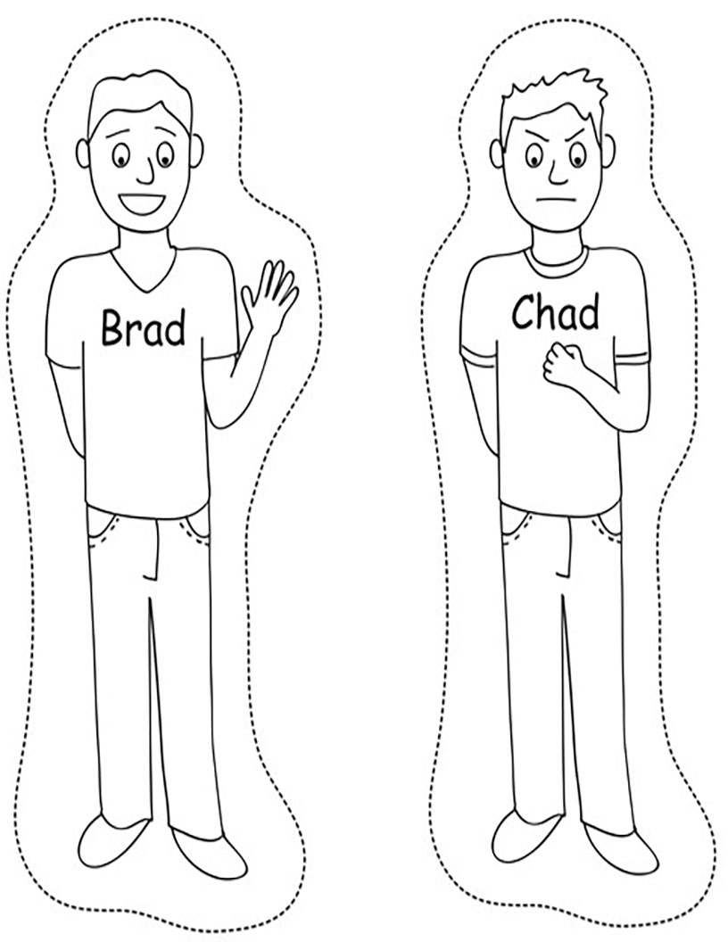 Brad and Chad puppets
