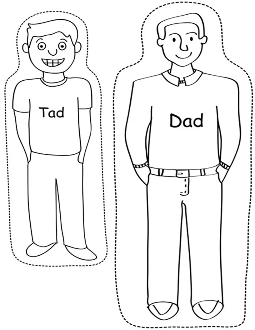 Tad and Dad puppets