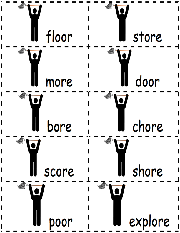 chore word cards
