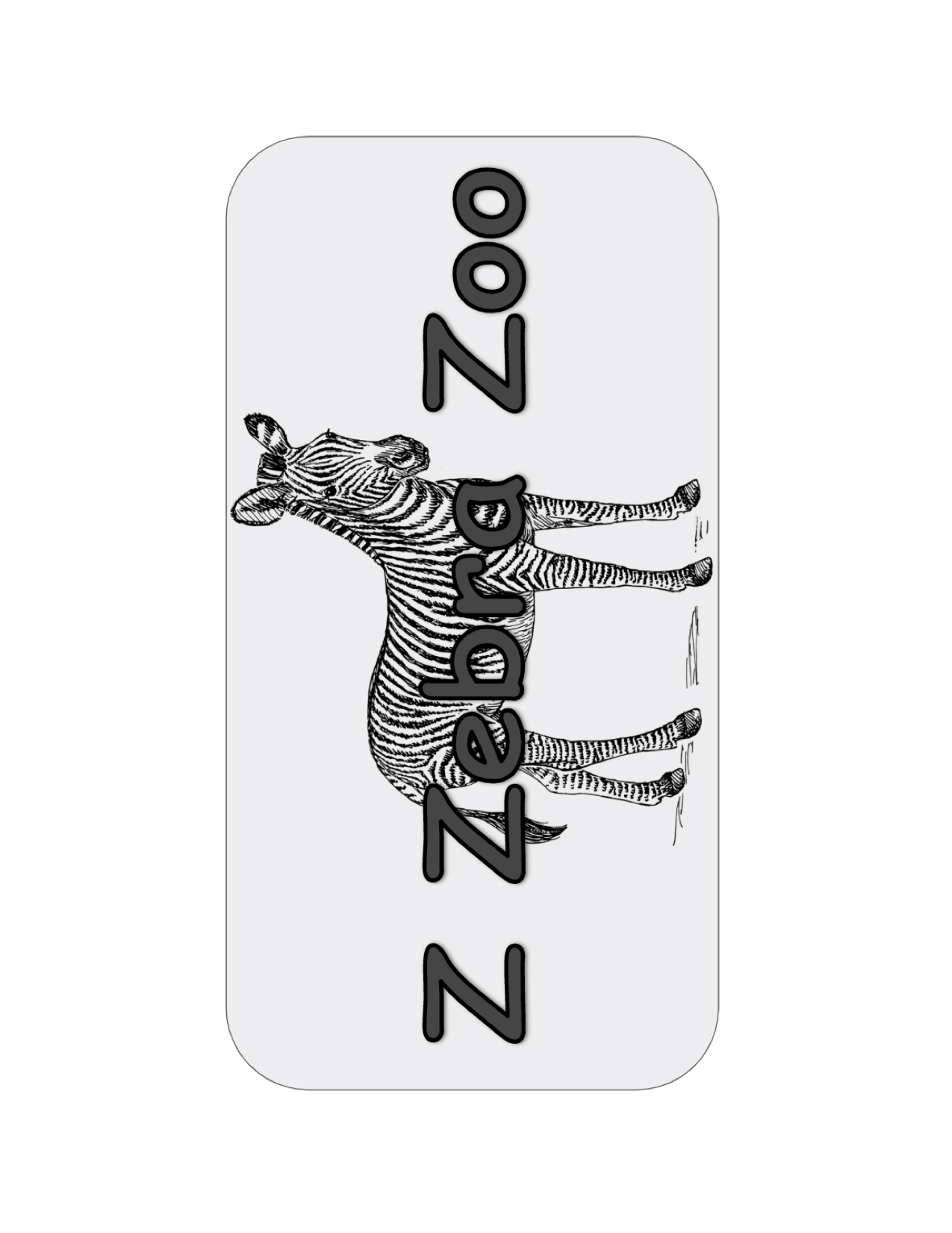 Z Zebra Zoo sign