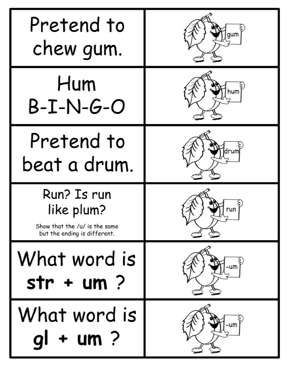 Word Cards (cont.)