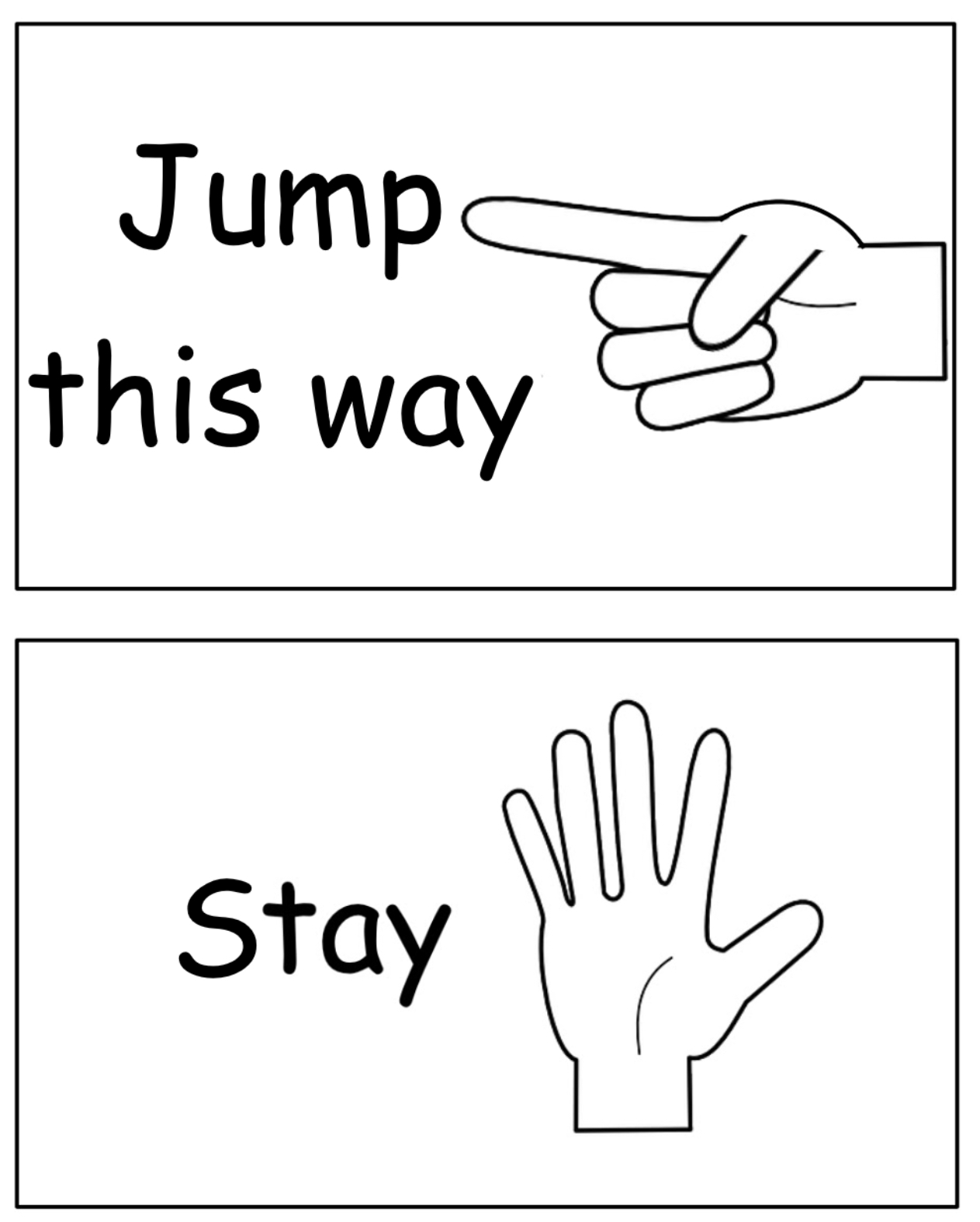Command signs