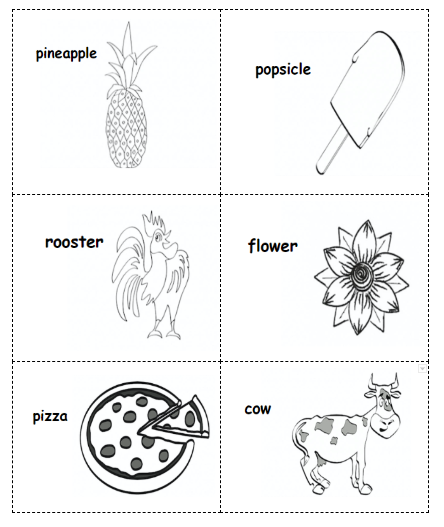 Non-rhyming Picture Cards