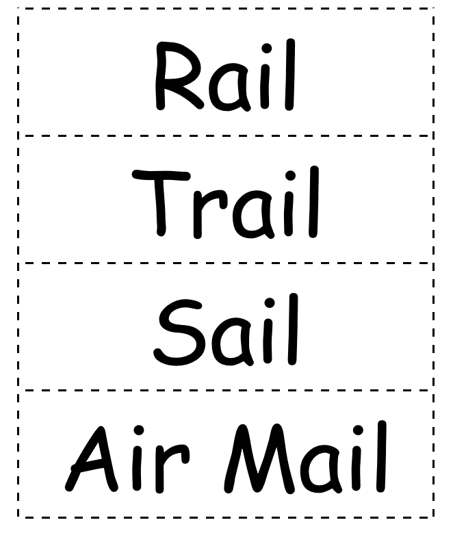 Mail sorting signs