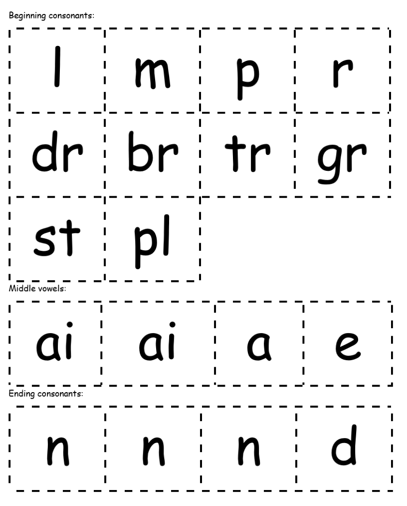 Word-building cards