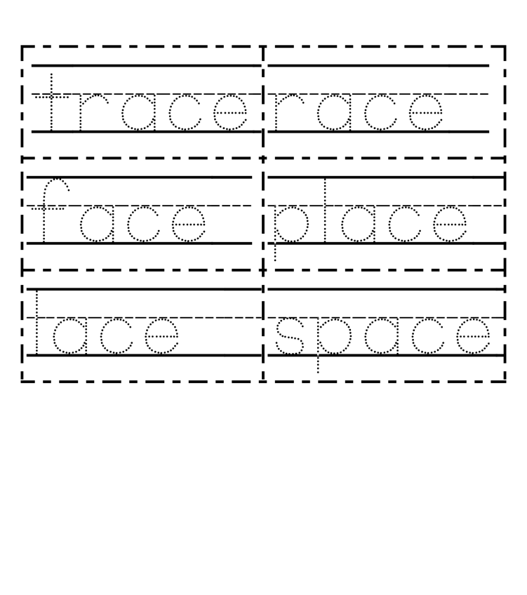 Word-tracing cards