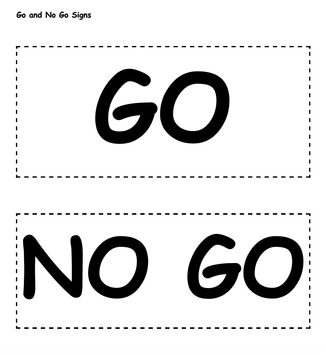 Go and No Go Signs