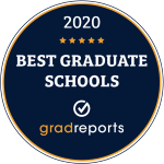 Badge for 19th on Gradreports list of 25 Best Master's in Educational Leadership Programs 2020.