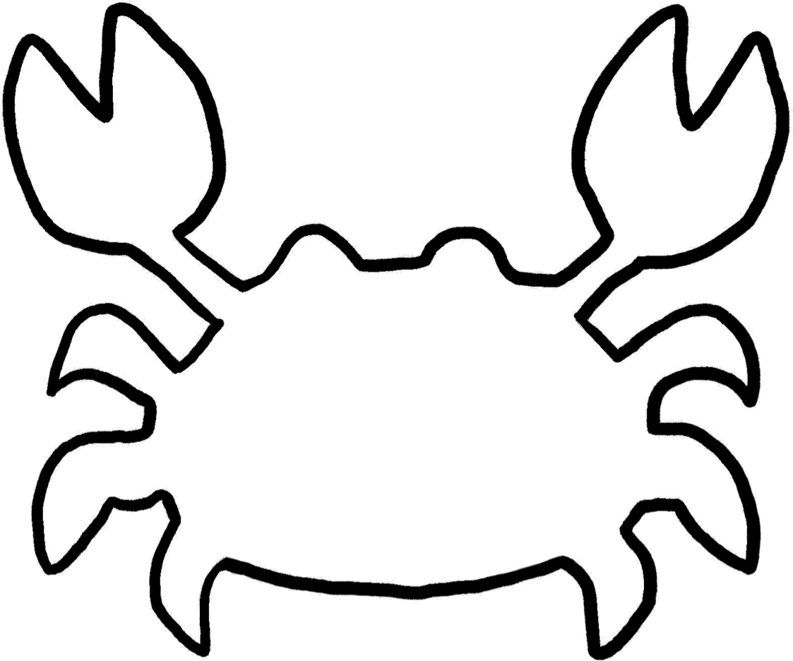 Satisfactory image regarding crab stencil printable