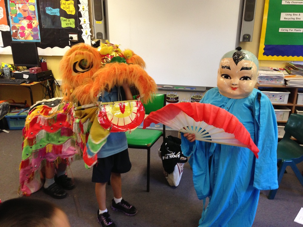 Image of Balden's students in culturally diverse costumes.
