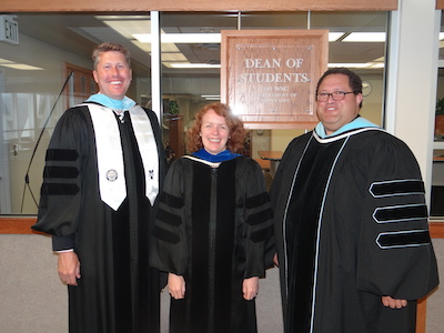 Vern Heperi, Assistant to the President for Student Success and Inclusion, Sarah Westerberg, Dean of Students, and Casey Peterson