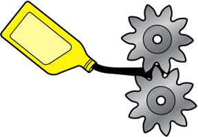 Oil added to gears