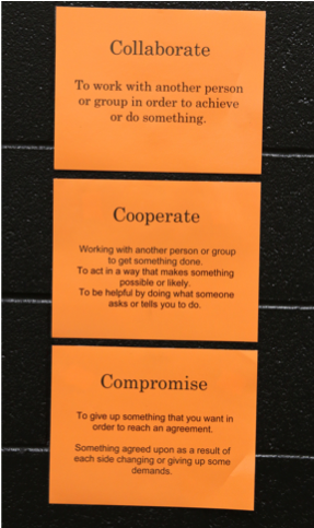 Collaborate, Cooperate, and Compromise