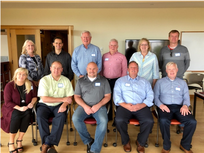 McKay School team that visited the ELPS program at the University of Denver.  Front:  Rhonda Bromley, Alpine, Mike Larsen, Nebo, Jackson Cox, Provo, Jim Judd, Wasatch, Anthony Godfrey, Jordan Back:  Pam, David, Jim, Bryan, Dean Prater, Spencer Weiler