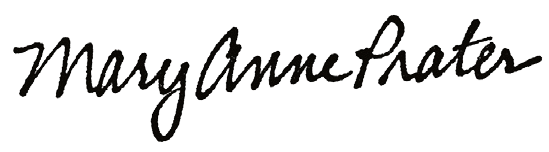 Mary Anne Prater's signature