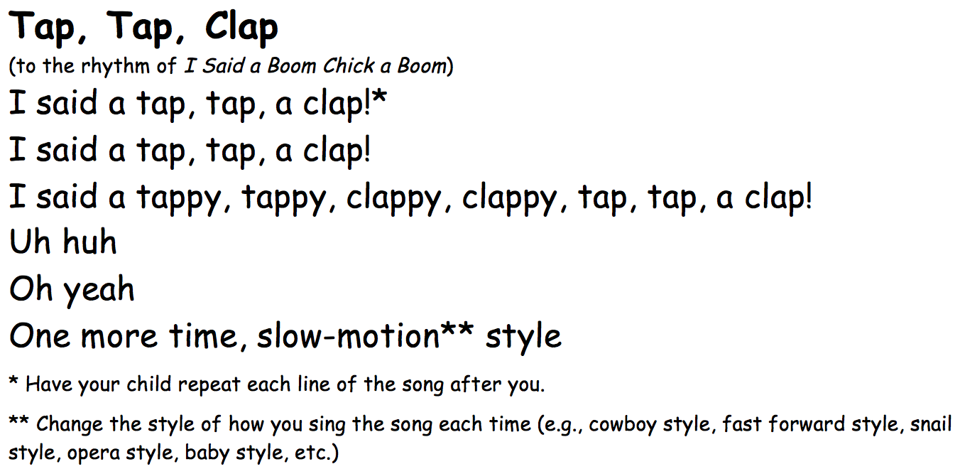 Tap-Tap-Clap-song