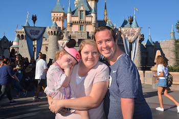 Joseph and Brooke Olson on a family vacation to Disneyland.