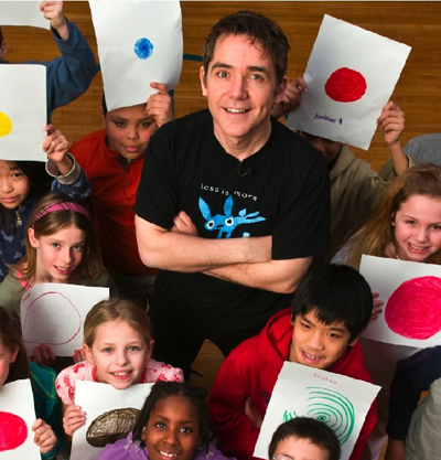 Peter Reynolds with Children